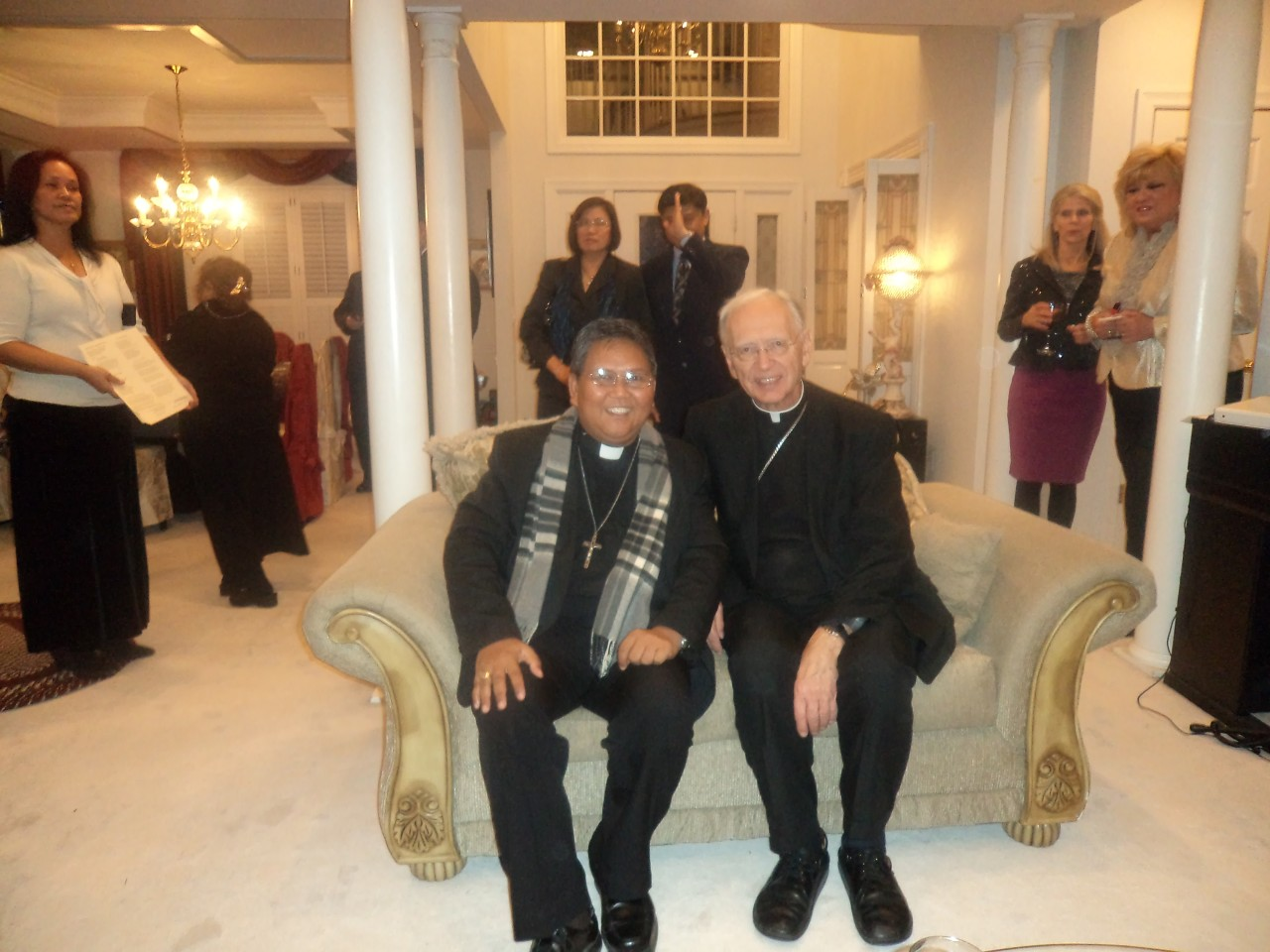 Fr. Abe with Bishop Robert J. Hermann, Auxiliary Emeritus of St. Louis Archdiocese 1