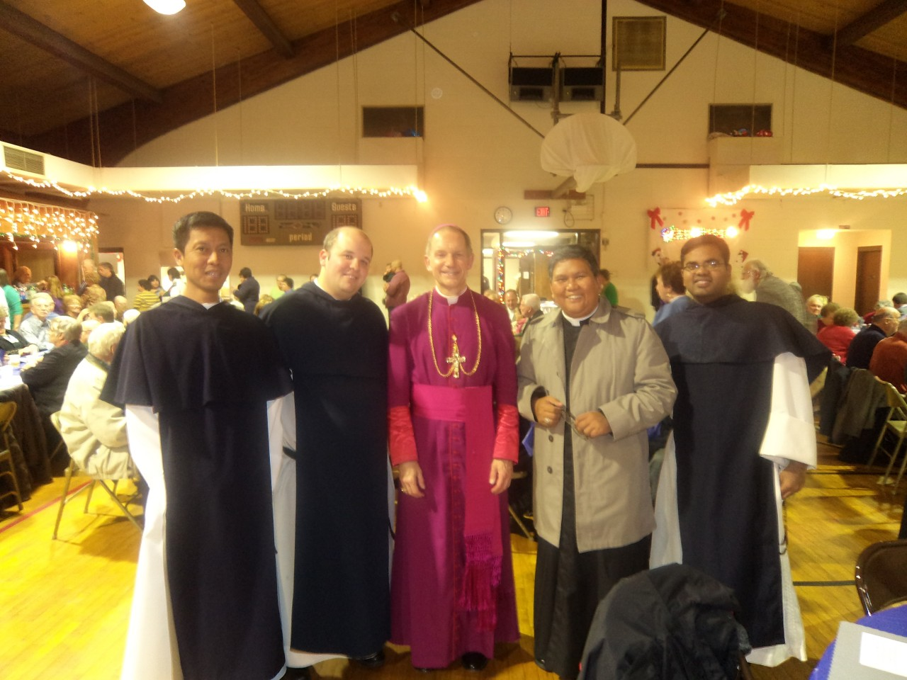 Fr. Abe with Bishop Thomas Pafrocki of the Diocese of Springfield, Illinois