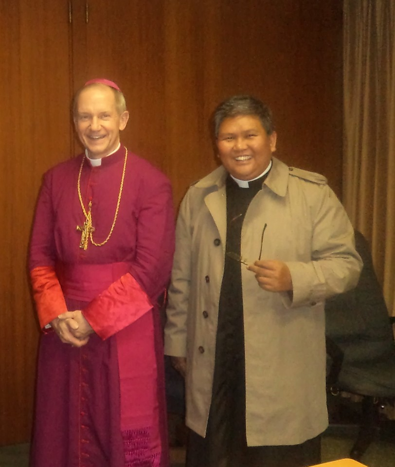 FR. ABE WITH BISHOP THOMAS PAFROCKI OF SPRINGFIELD, ILLINOIS