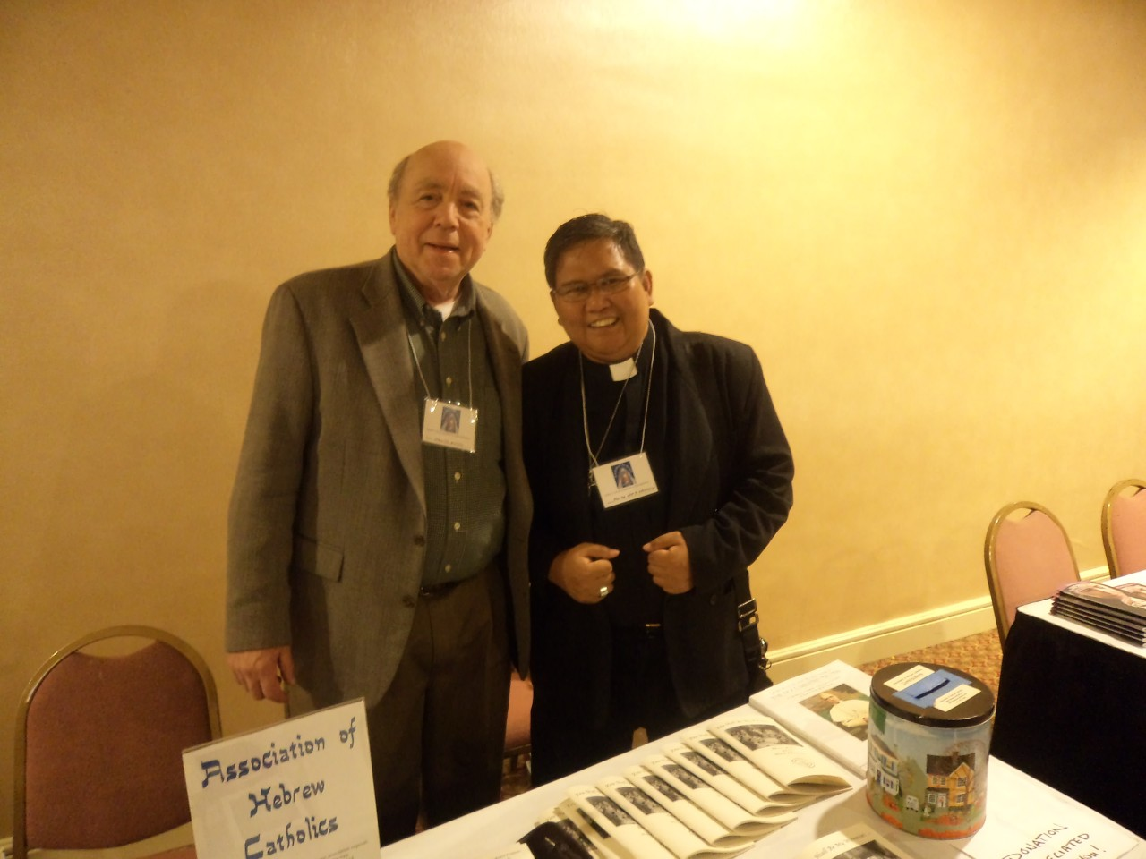 FR. ABE WITH MR. DAVID MOSS