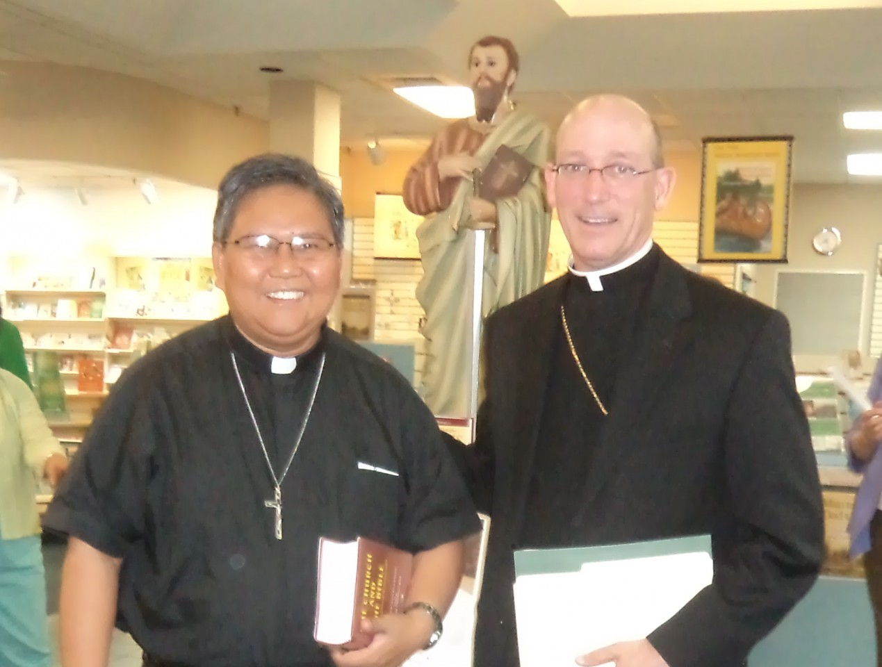 FR. ABE WITH BISHOP EDWARD RICE, Auxiliary of St. Louis Archdiocese