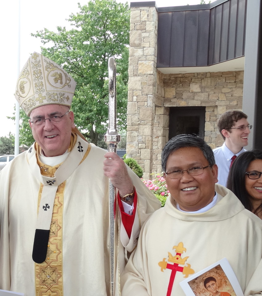 Fr. Abe with The Most Rev. Joseph F. Naumann, DD the Archbishop of Kansas