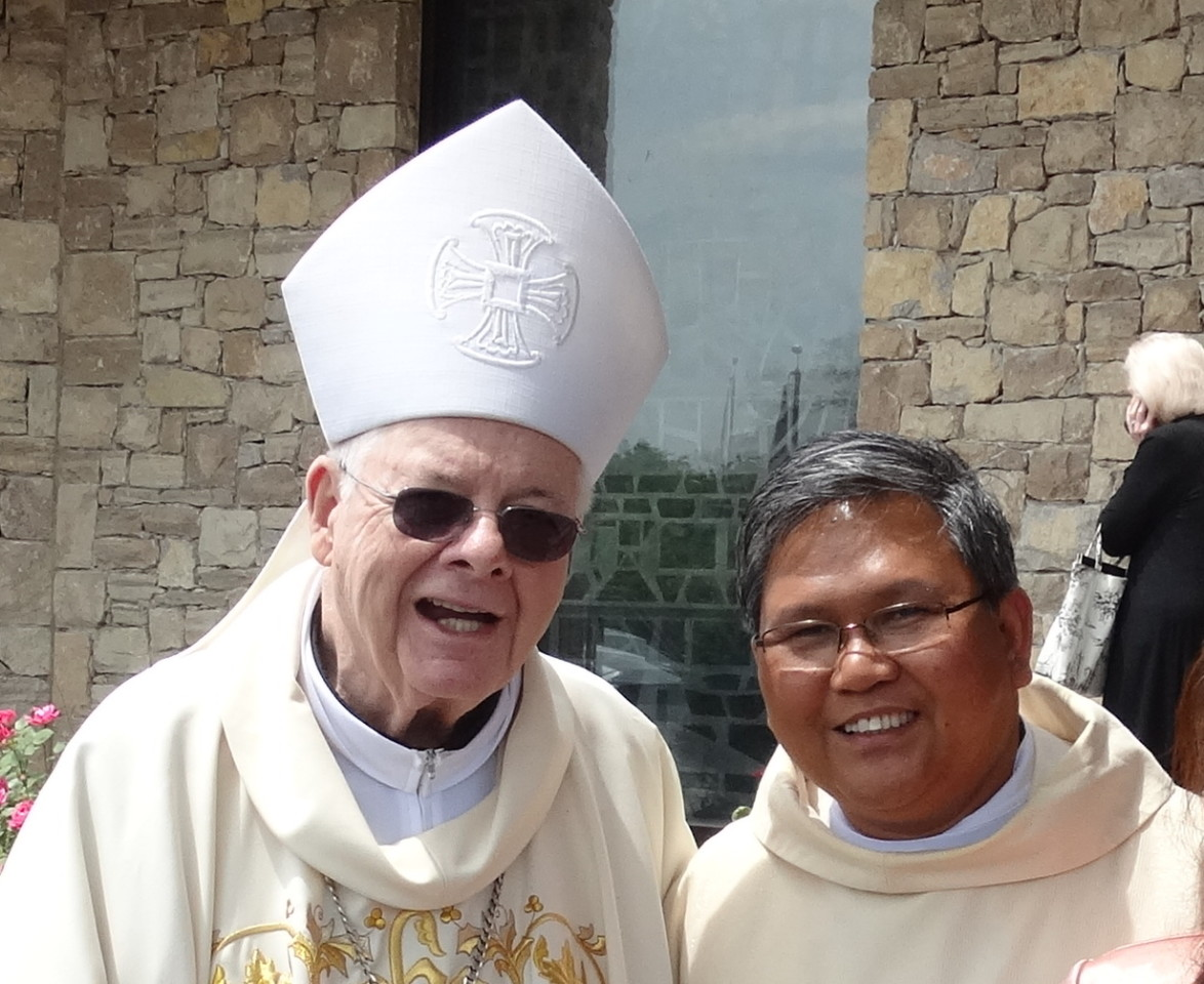 Fr. Abe with The Most Rev. James Keleher, Archbishop Emeritus of Kansas