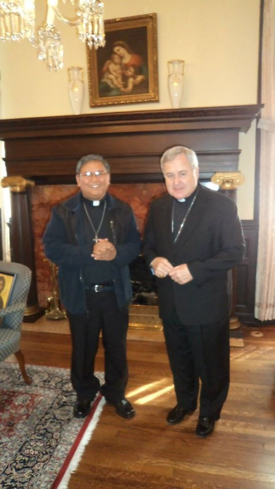 Fr. Abe with Arch. Robert J. Carlson of St. Louis