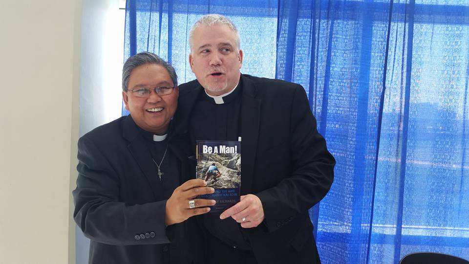 FR. ABE ARGANIOSA WITH FR. LARRY RICHARDS