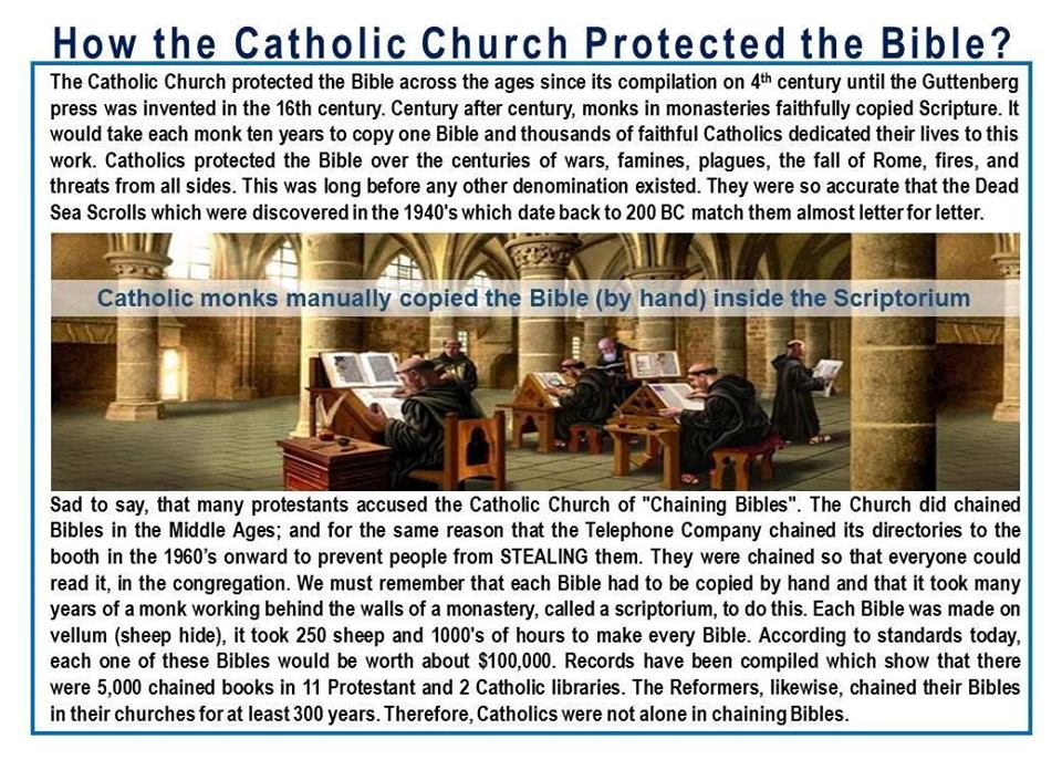 HOW THE CATHOLIC CHURCH PRESERVE ITS COMPILED BOOK CALLED